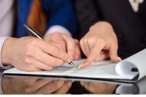 Dentist consulting with a professional lease negotiator