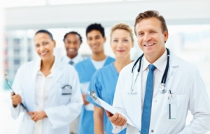 Physicians in a row