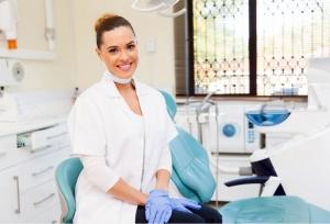 Female Dentist in her Dental Practice