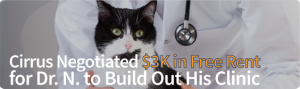 Cirrus Negotiated $3K in Free Rent for Dr. N. to Built Out His Clinic
